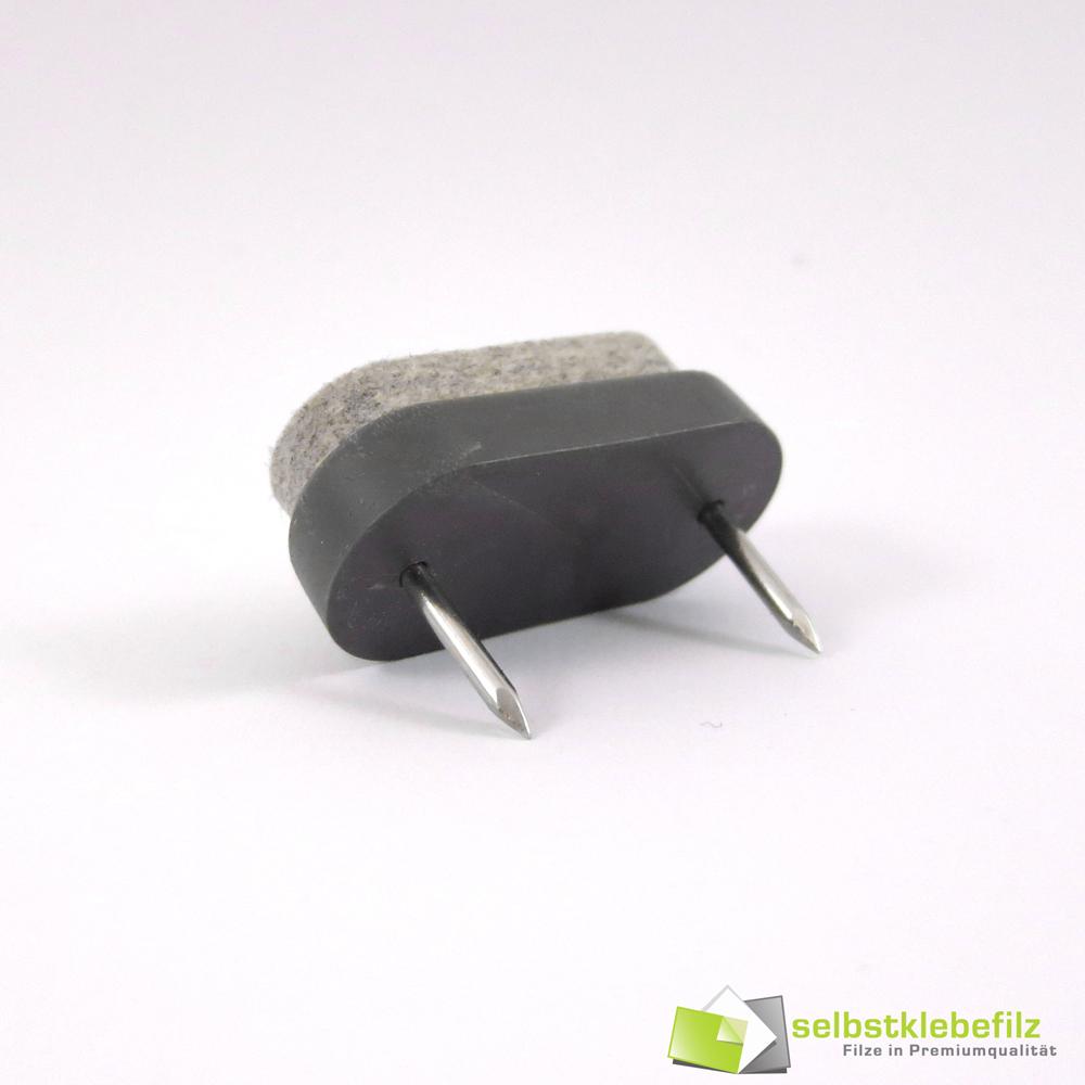Professional nail slider furniture 1 1 2x0 7 10in wool felt white grey brown ebay - Screw in felt pads ...