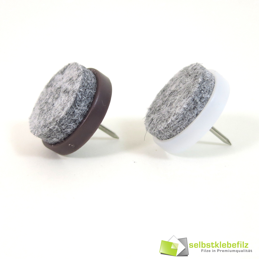Made in Germany Furniture Sliders Range of Sizes Brown or White White, 15mm Diameter, Pack of 36 Nail-On Gliders