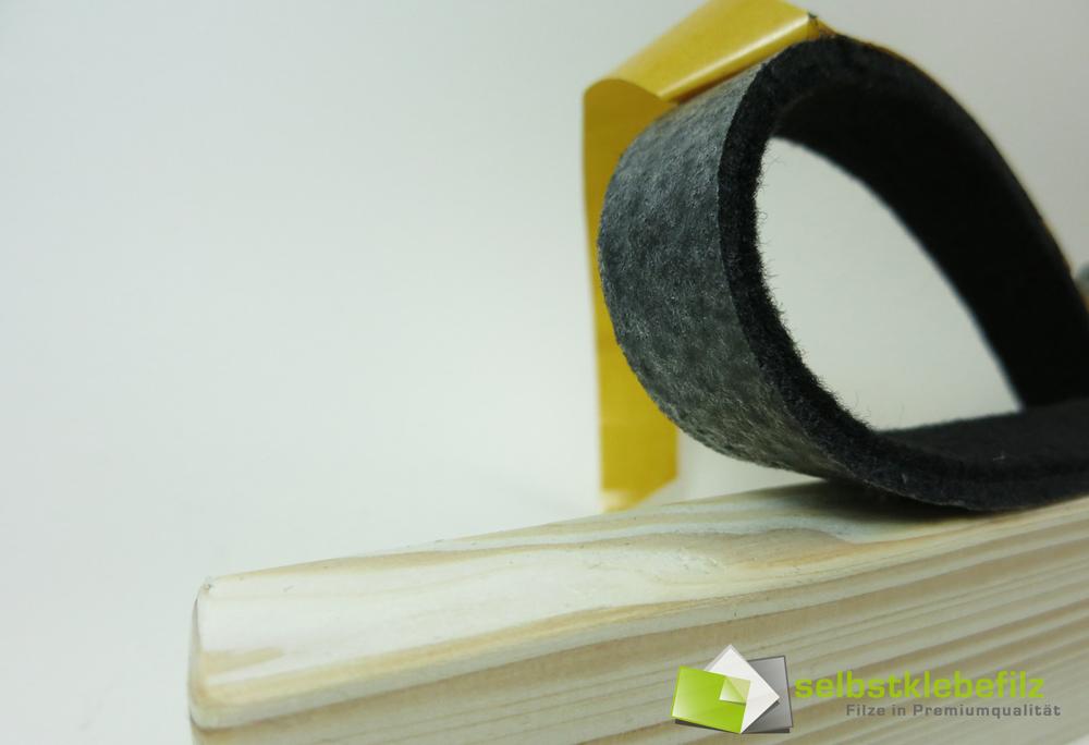 Filzstreifen 20mm breit 6mm dick ab 1m filzband schwarz for Computertisch 1m breit