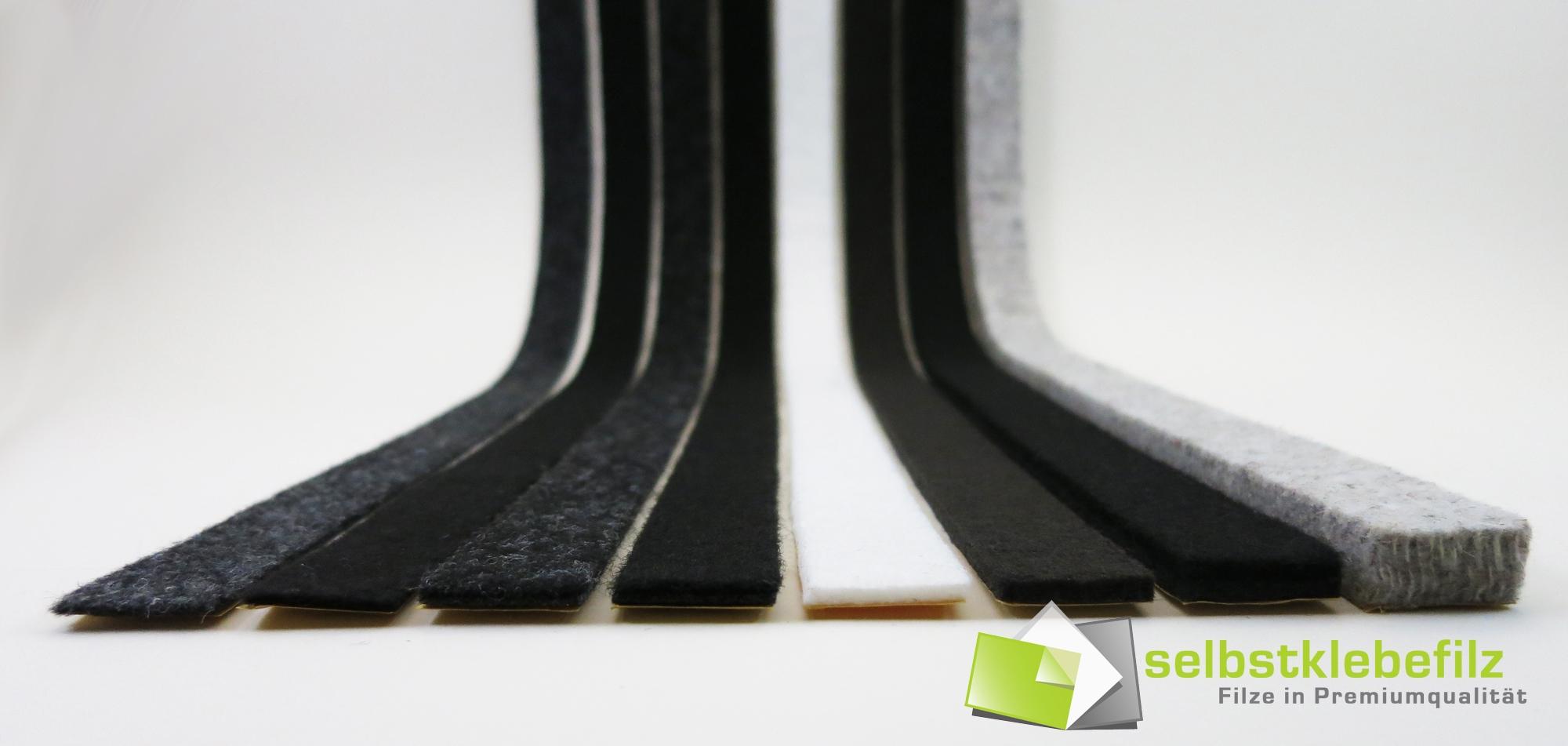 2m Filzklebeband einseitig selbstkl 3mm dick 90mm breit